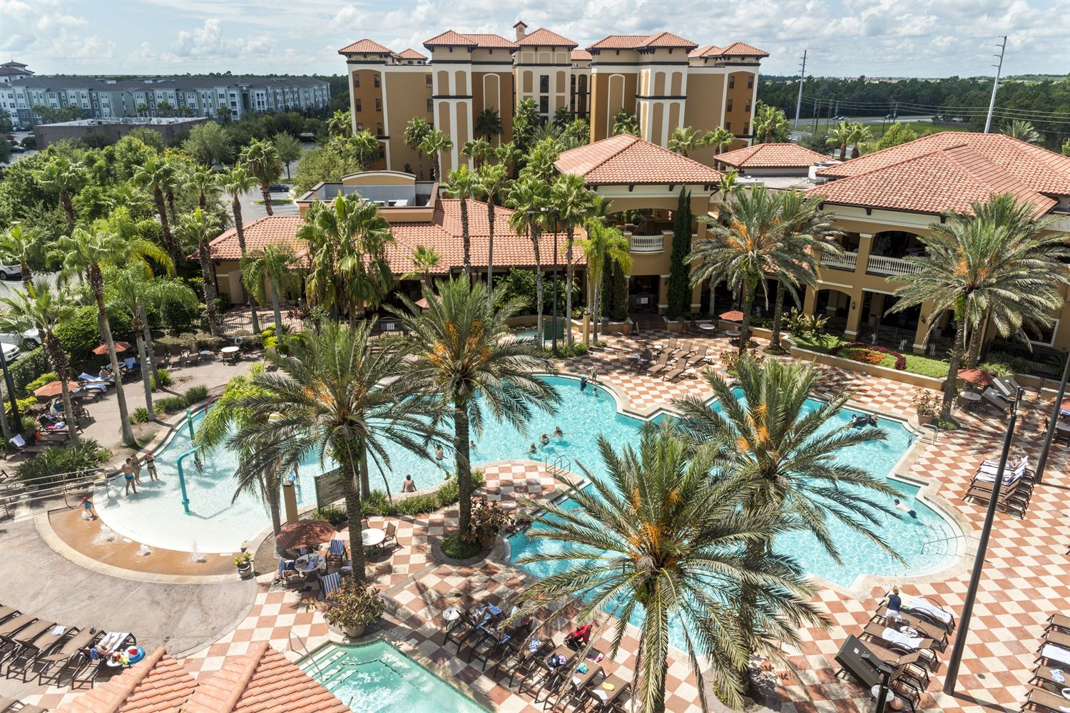 Ariel View of Pool at Floridays Orlando Resort