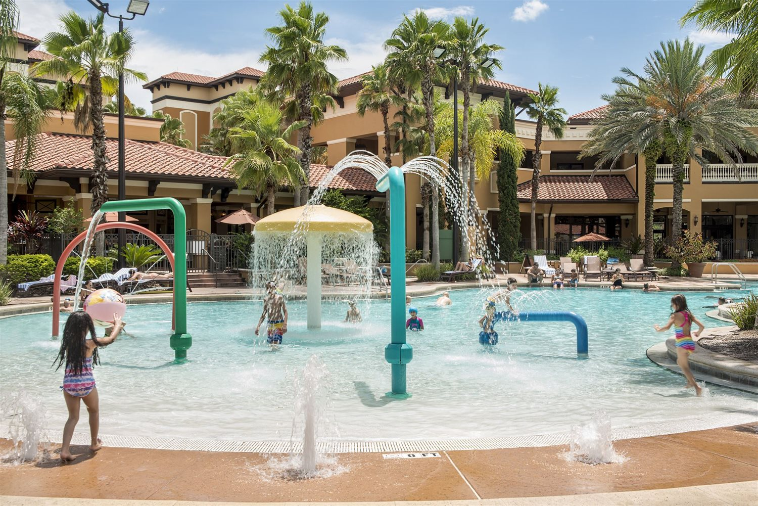 Kids Splashing in the pool at our Orlando resort
