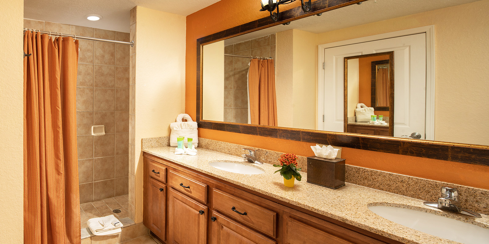 Bathroom in one of our Two Bedroom Suites in Orlando