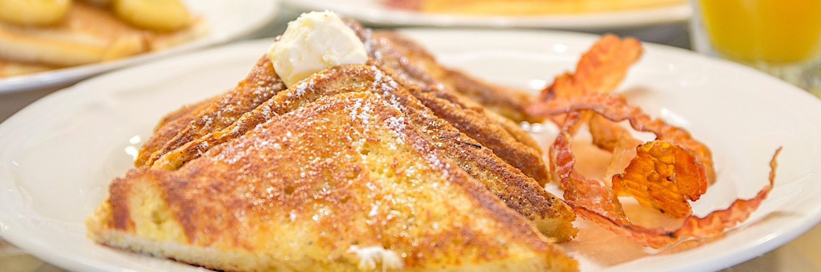 French toast with bacon for breakfast